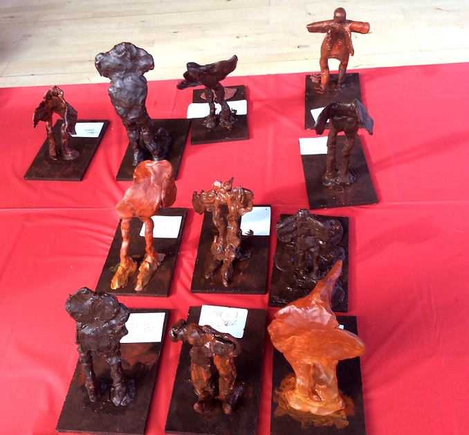 A selection of the scuptures designed by the students