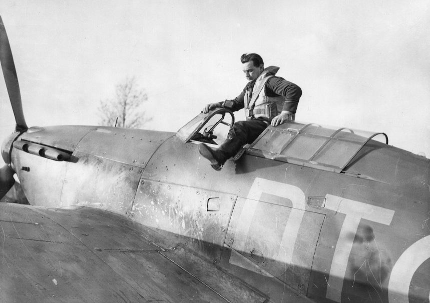 Flt Lt H P Blatchford of 257 Squadron, RAF Martlesham Heath.  Credit: Ministry of Defence