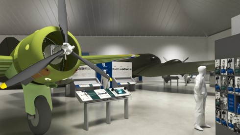 Artists impression of the Battle of Britain display in London