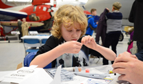 Half term model making at Cosford