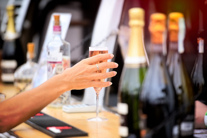 Enjoy a glass of fizz at the Cosford Food Festival