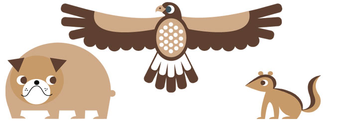 Discover what a Bulldog, a Hawk and a Chipmunk have in common with our London site this Easter