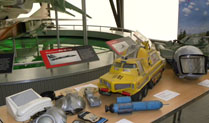 Sci-fi models at Cosford