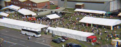Cosford Food Festival from above