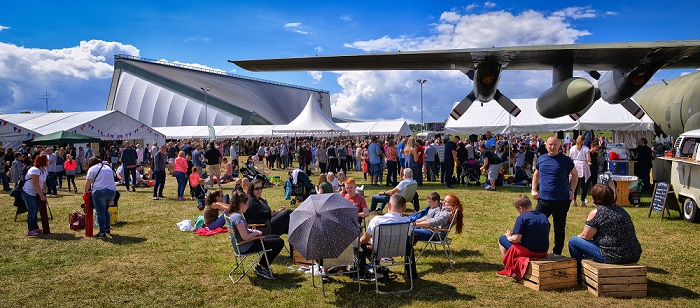 Visitors at the Cosford Food Festival