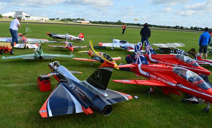 Static aircraft display
