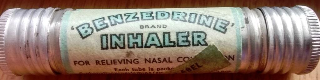An Australian Benzedrine brand inhaler from the Second World War. Photo courtesy of James Pugh
