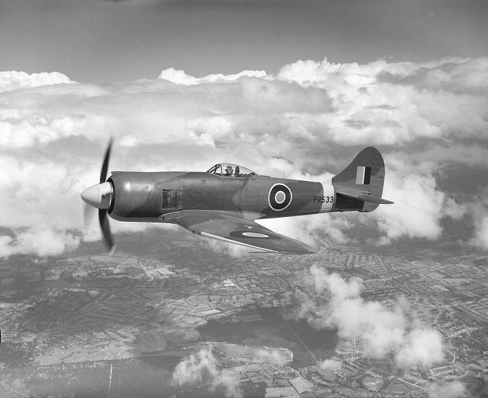 Tempest II in flight