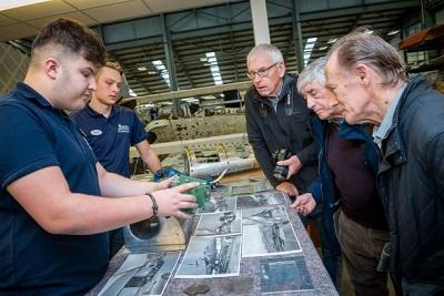 RAF Museum Apprentices speak with visitors