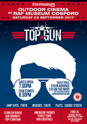 RAF Museum Cosford Outdoor Cinema - Top Gun