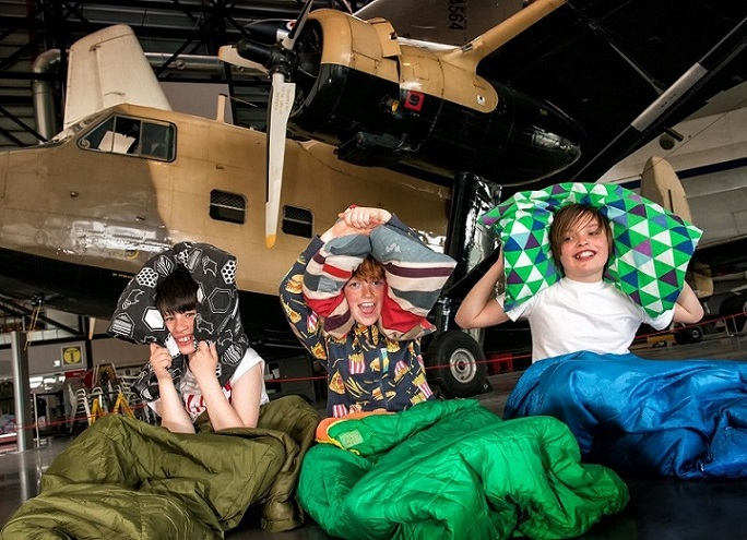'Pillows and Pilots' sleepovers