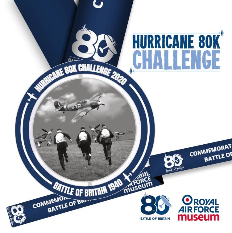 Hurricane 80K Challenge Medal