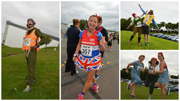 Dressing up in style at the Cosford Spitfire 10K