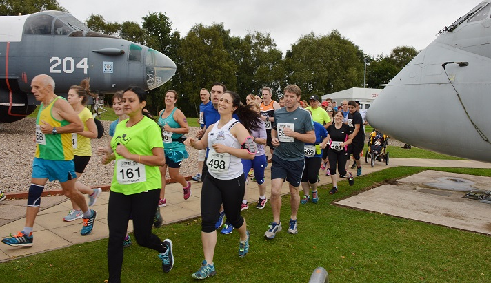 Runners will pass the iconic aircraft on display at the RAF Museum Cosford