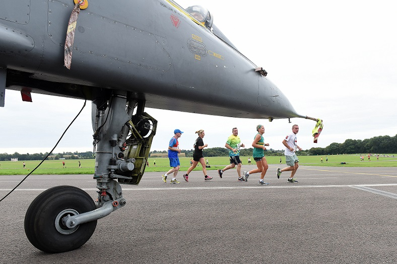 Race across the airfield in the Spitfire10K