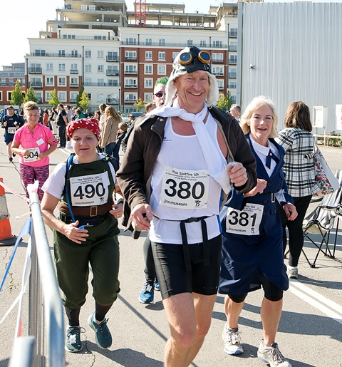 One of our fun-runners in fancy dress!