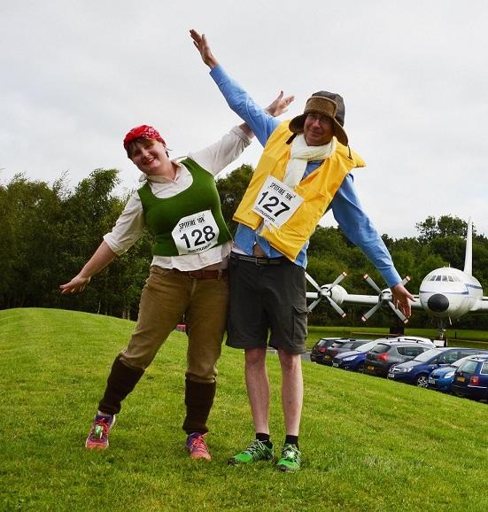 Spitfire 10K runners in wartime fancy dress