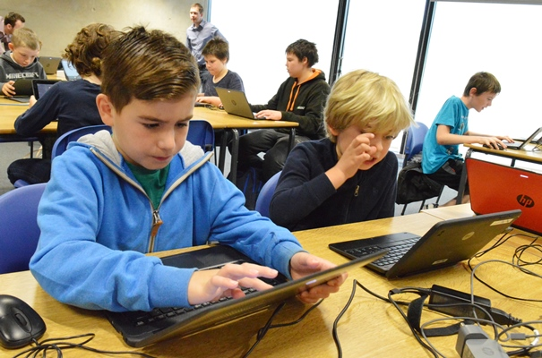 Youngsters can take part in Minecraft activities at Cosford