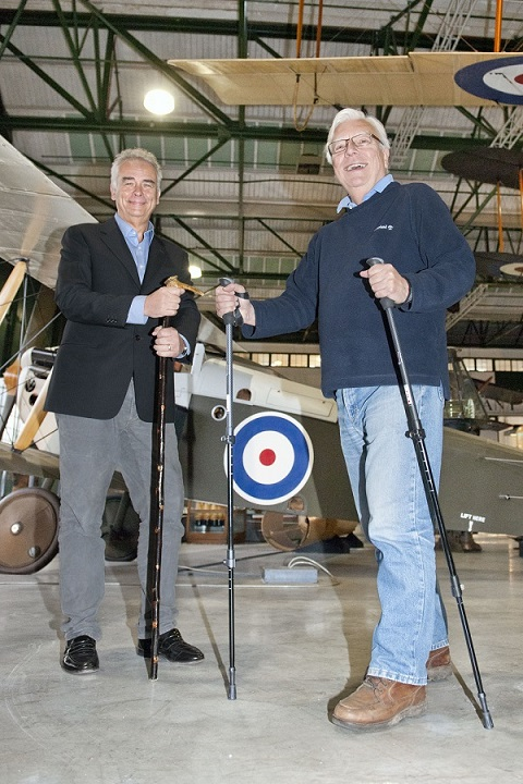Robin Southwell_left and Alan Coppin_right at the RAF Museum
