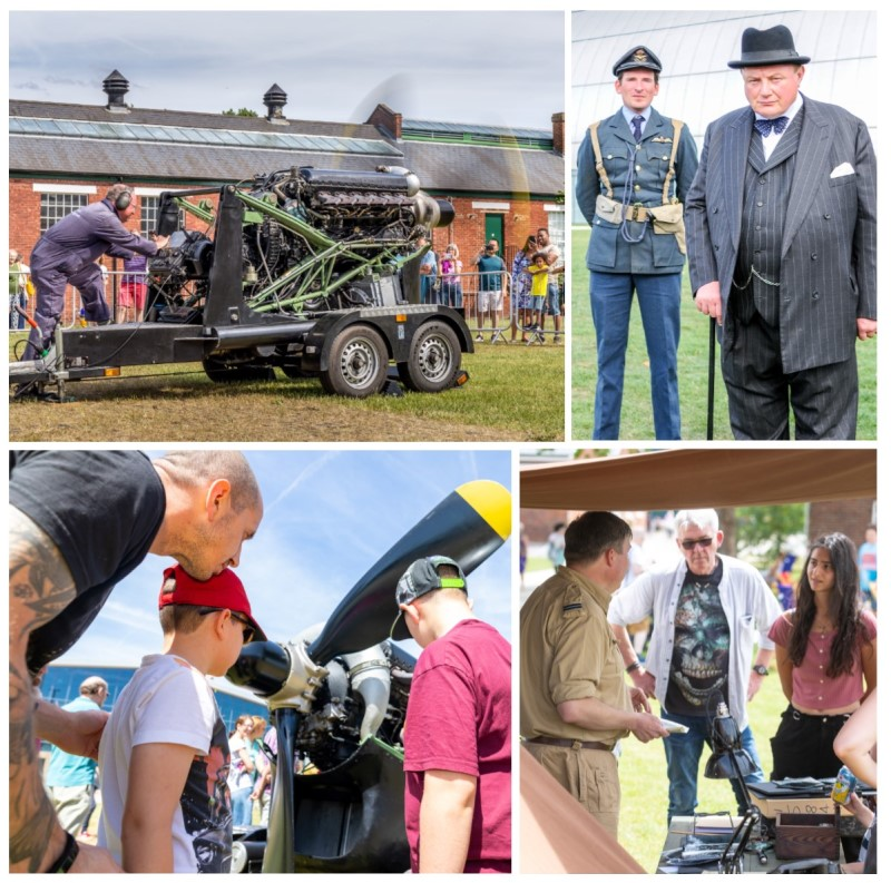 A montage of images from our last Battle of Britain Day
