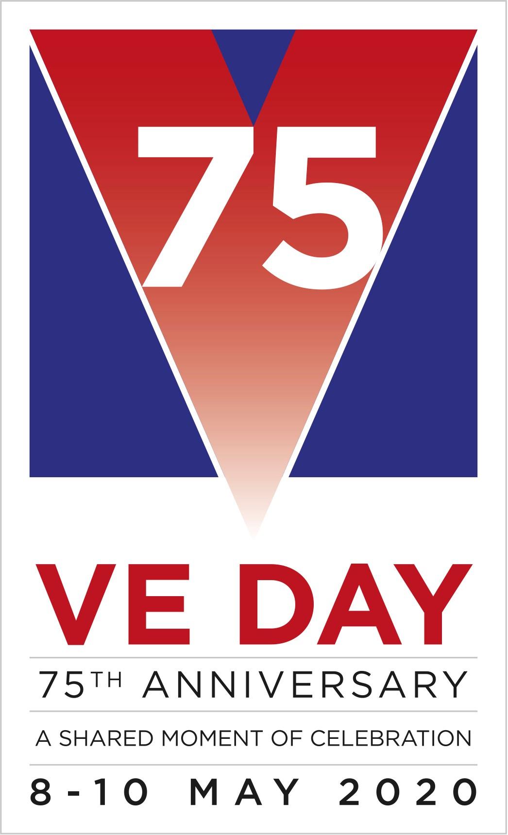 The VE Day 75 Logo