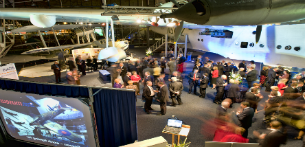Our aircraft halls are perfect for evening events