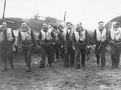 The crew of 303 Polish Squadron who fought so valiantly during the Battle of Britain