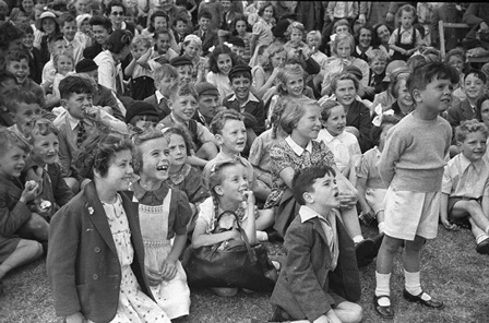 1940s Children listening to stories