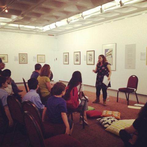 Sonia Caller, telling stories in our Art Gallery