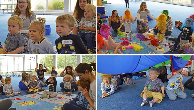 A montage of images showing our Little Swifts Sessions