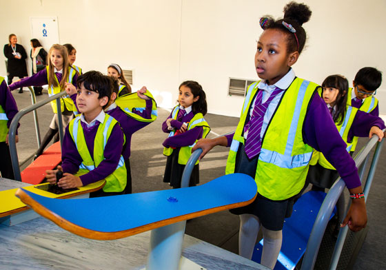 London School Children at the Exhibition's Opening