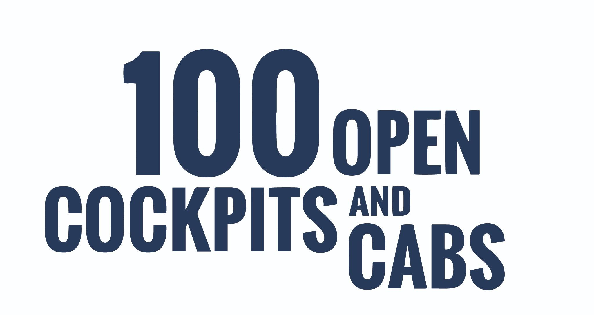 The 100 Open Cockpits and Cabs logo