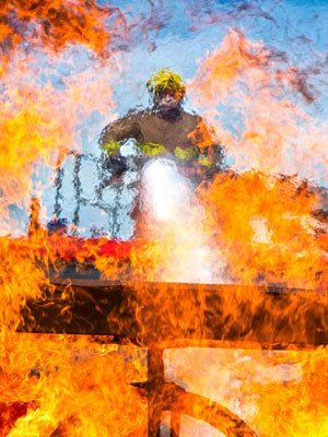 Fire Fighter - one of the images that will be on display