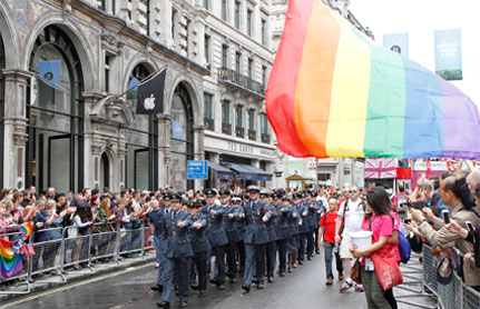 LGBT RAF Personnel marching at Pride