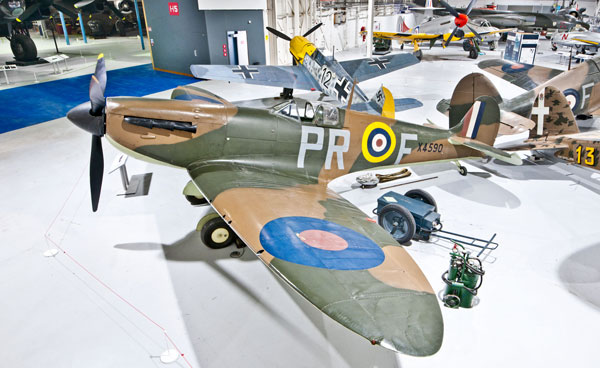 Our Battle of Britain Fighter Aircraft, located in Hangar 3