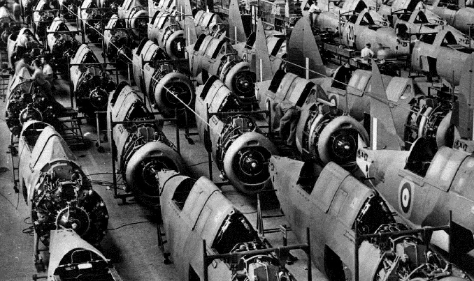 production line in final assembly shop at Johnsville plant - Brewster Buccaneer, USA, n.d.