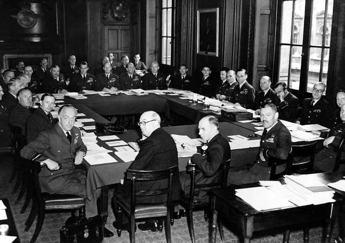 Photograph of Air Council meeting