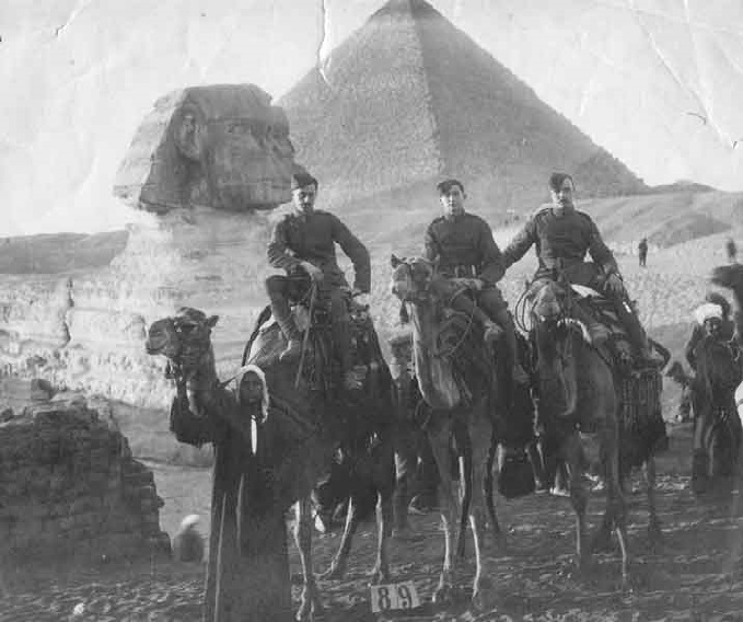 RFC group photograph in Egypt, 1915
