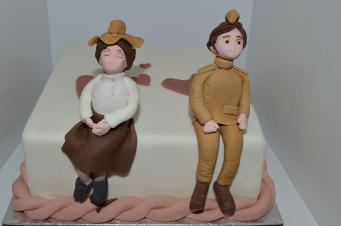 This adorable cake is just one of the many love tokens on display in Wings of Love
