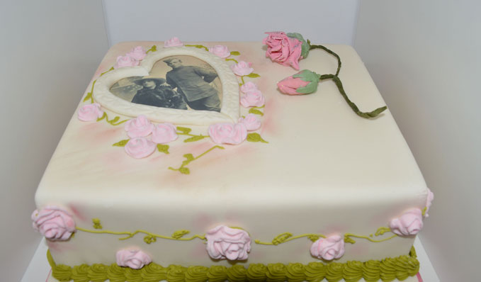 This adorable cake is one of the many love tokens on show in Wings of Love