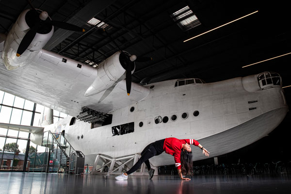 Enjoy a free yoga session by our Sunderland Flying Boat