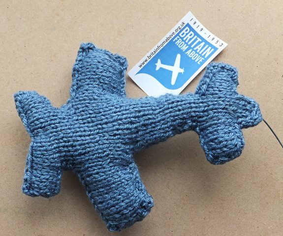 Knit for britain knitted plane