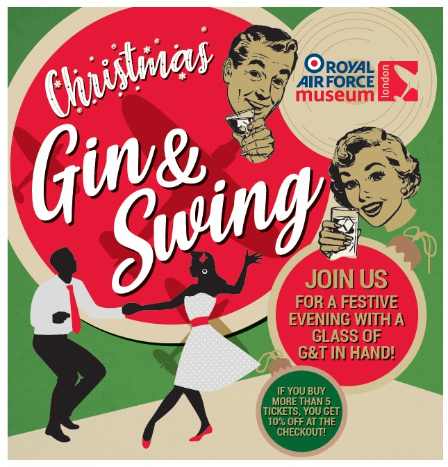 Join us for an evening of Gin and Swing at the Royal Air Force Museum London on 7 December 2019