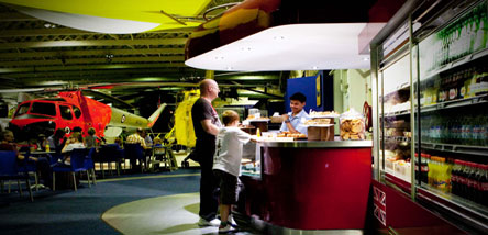Visit the Wessex Cafe in Historic Hangars
