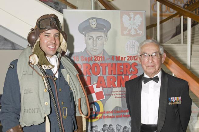 Mr Vernon Creek, member of staff, in Polish Uniform with a Polish Veteran of the Battle of Britain.