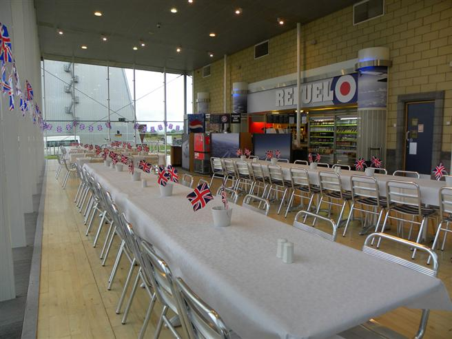 The Museum's Visitor Centre set up for the day's festivities.
