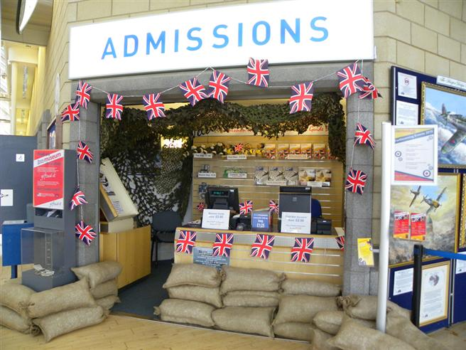 The Museum's Admissions Desk dressed for the occasion.