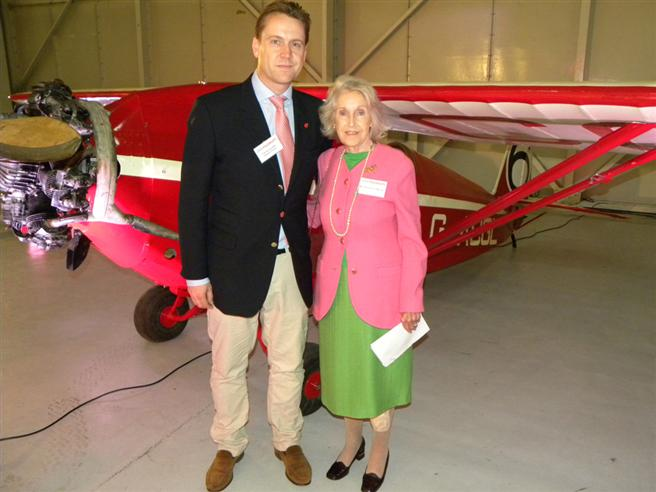 Mrs Shirley-Ann Manser and Son.  Mrs Manser is the daughter of Douglas Pobjoy, who designed the aircraft engine.