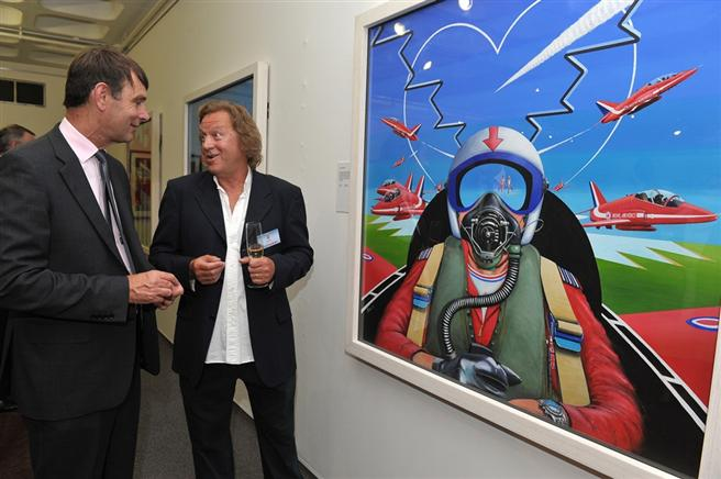 Mr David Bent (right) with Director General of the Museum Peter Dye