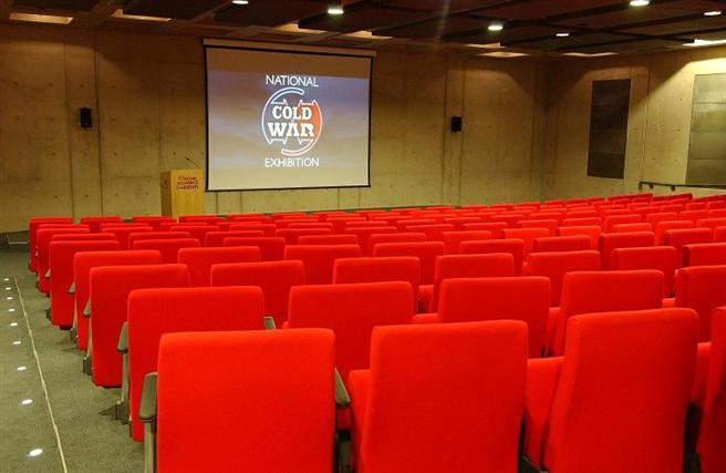 Our bunker style Auditorium has seating for 208 delegates including audio visual equipment and fold down writing tables